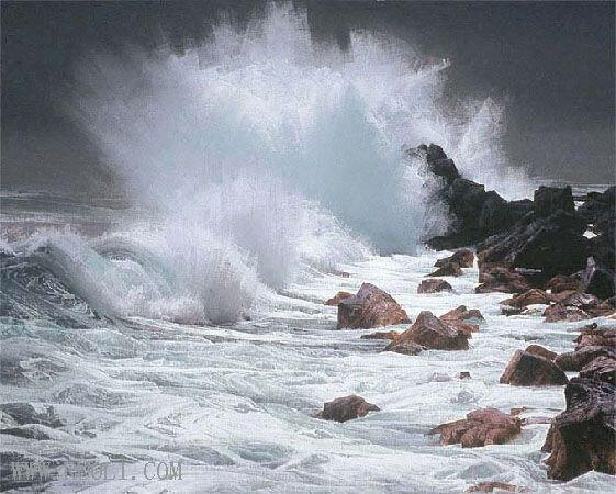 ruo li-seascape-paintings-landscape-art