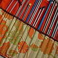 Range aiguilles de tricot en tissu vintage