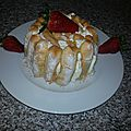 Charlotte fraises chocolat blanc