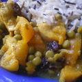 Curry de dinde aux abricots et aux raisins
