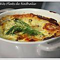 Flans de saumon et courgette au fromage blanc.