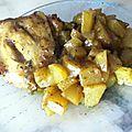 ★☆ poulet et patates épicés au four ☆★