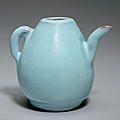 A rare Jun blue-glazed ewer, Jin-Yuan dynasty (1115-1368)