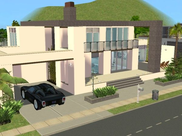 Miami road maisons deco sims2 for Maison moderne sims 4