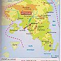 -l'attique, territoire de la cité athénienne sur une carte de grèce