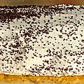 Fausse bûche ou gâteau roulé au café