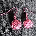 B.o. boules de fil rose