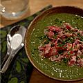 Bon pour la santé : veloute de cresson & celeri rave