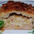 Croustade aux poireaux et au saumon