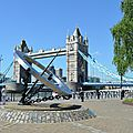 Royaume uni - Londres - cadran solaire - tower bridge
