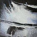 Tempête christian cote sauvage, 29 oct 2013, pastel à l'huile. 490 euros.