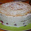 Dessert mousse à la rose et aux framboises