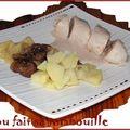 Supremes de volaille au foie gras marrons et pommes