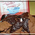 Tuiles viennoises au chocolat
