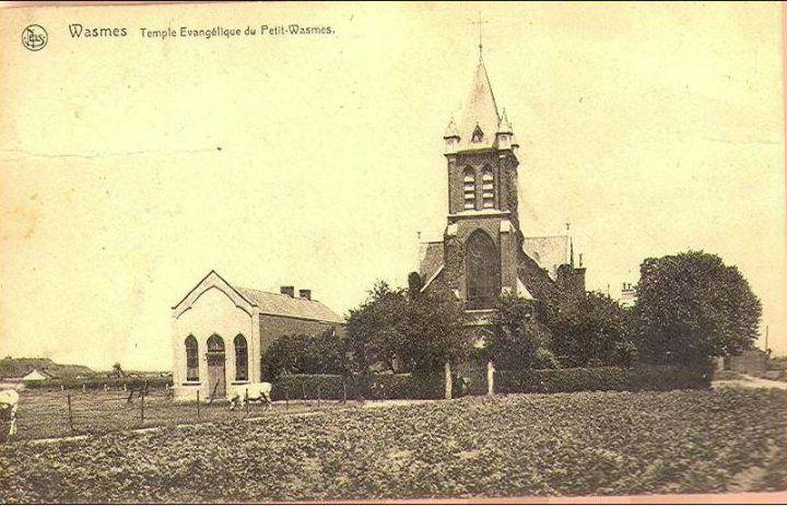Petit-Wasmes - Eglise et Temple - carte postale
