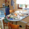 Atelier patchwork dans la cuisine