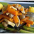 Porc, pomme de terre carotte