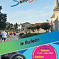 Saint-gence : le bulletin d'octobre est en ligne !