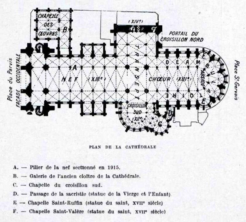 Cathéd Soissons plan