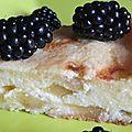 Gâteau frais au fromage blanc et pommes