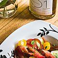 Tomates & concombre de nos régions en salade toute simple