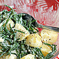 Salade tiède de pommes de terre et salicornes à l'aïoli