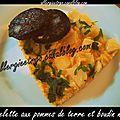 Omelette aux pommes de terre et boudin noir sans plv et gluten