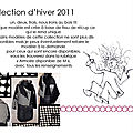 Collection hiver 2011