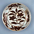 Dish with fruiting and flowering branches, Ming dynast, Zhengde mark and period, AD 1506–1621