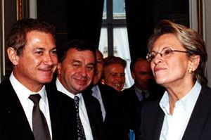 Richard Dell'Agnola avec Michèle Alliot-Marie