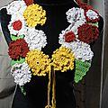 Echarpe fleurs d'autome au crochet