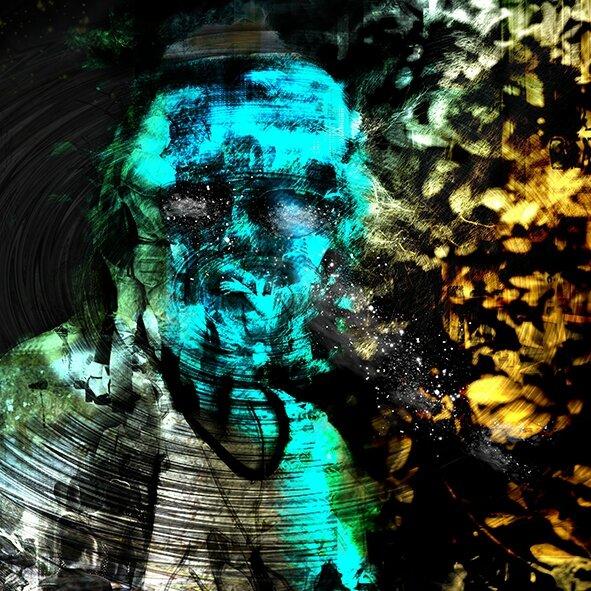 Respire, Dibond Alu, 60x60 cm