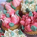 ▼▲▼ cupcakes flowers 3d ▼▲▼ yummy time