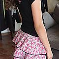 jersey coton noir et menton rose
