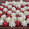 Tarte fraises ganache montée