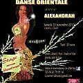 Stage de danse orientale avec alexandrah le 23 novembre 2013 à vaulx-en-velin (69)