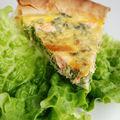 Tarte saumon salade