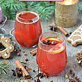 Jus de cranberries façon vin chaud #noël vegan
