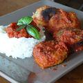 Boulettes de poulet et courgettes, sauce tomate et riz (10 pp)