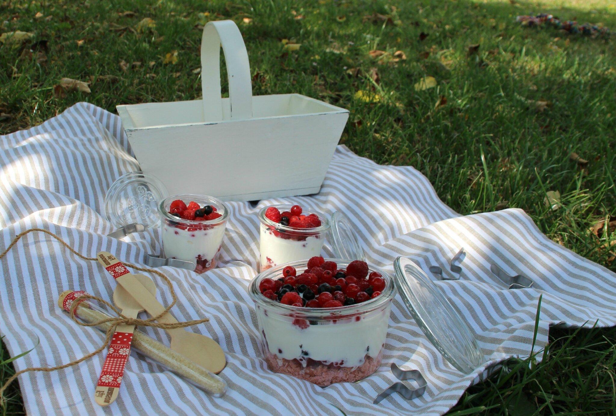 Desserts en bocal pour pique-niques ou buffets
