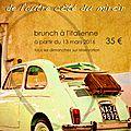 Le brunch a l'italienne a partir du dimanche 13 mars 2016