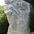 La Balme, momument aux morts des Maquis de l'Ain et du Haut Jura (74)