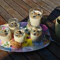 Petits pots de semoule à la vanille au companion