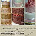 Les prochaines formations wedding cake...