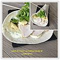 Wraps de poulet au fromage blanc