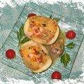 Gratiné de courgettes rondes farcies aux fruits de mer