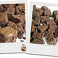 Brownie - sans noix, 100% chocolat