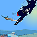 2014 (34) bataille des démons au dessus de la vallée du Rhône