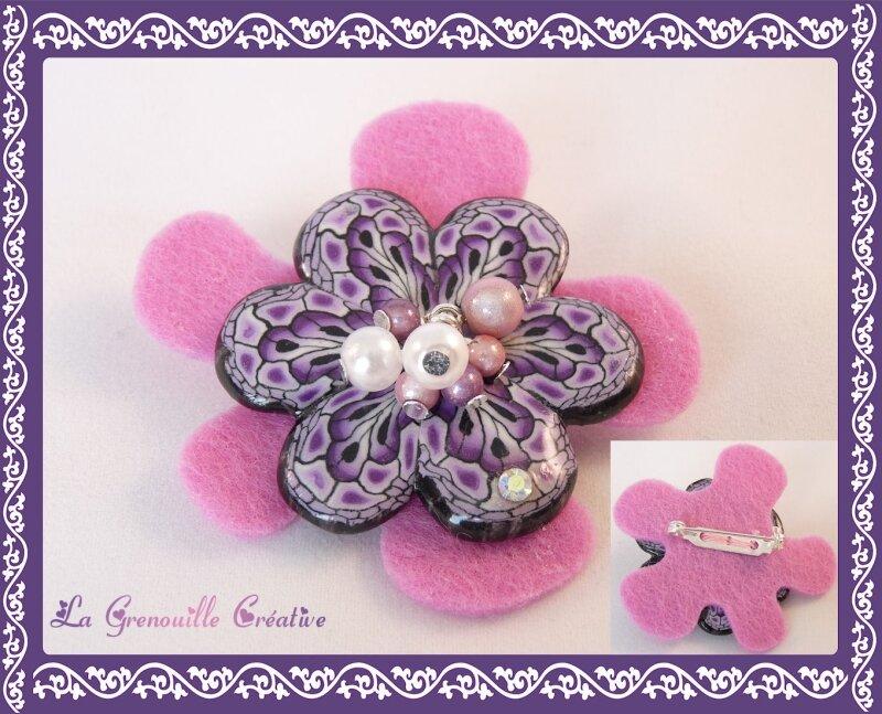 Broche Pink flower