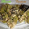 Gratin de brocolis et cacahuète